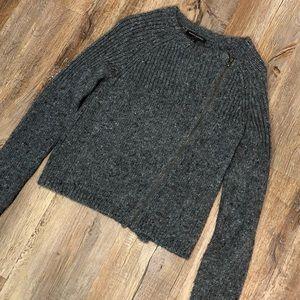 Banana Republic Zipper Wool/Acrylic Sweater